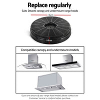 Range Hood Rangehood Carbon Charcoal Filters Under Cupboard Replacement For Ductless Ventless