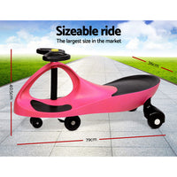 Kids Ride On Swing Car  - Pink