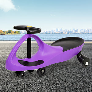 Kids Ride On Swing Car - Purple