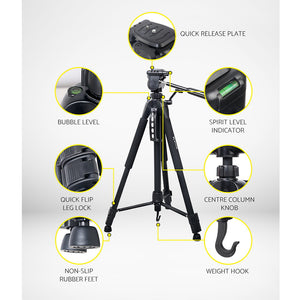 160CM Professional Camera Tripod