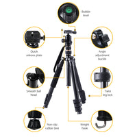 Professional Camera Tripod Monopod Stand DSLR Ball Head Mount Flexible