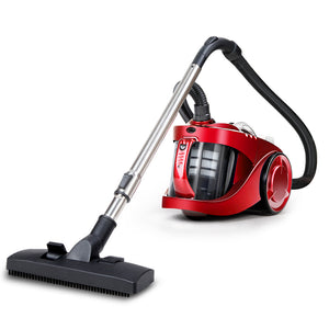 Bagless Vacuum Cleaner Cleaners Cyclone Cyclonic Vac HEPA Filter Car Home Office 2200W Red