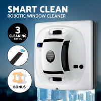 Robot Cleaner Smart Robotic Window Cleaning Automatic Electric Glass Cleaners Tool Romote Control White