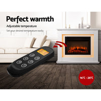 2000W Electric Fireplace Mantle Portable Fire Log Wood Heater 3D Flame Effect White