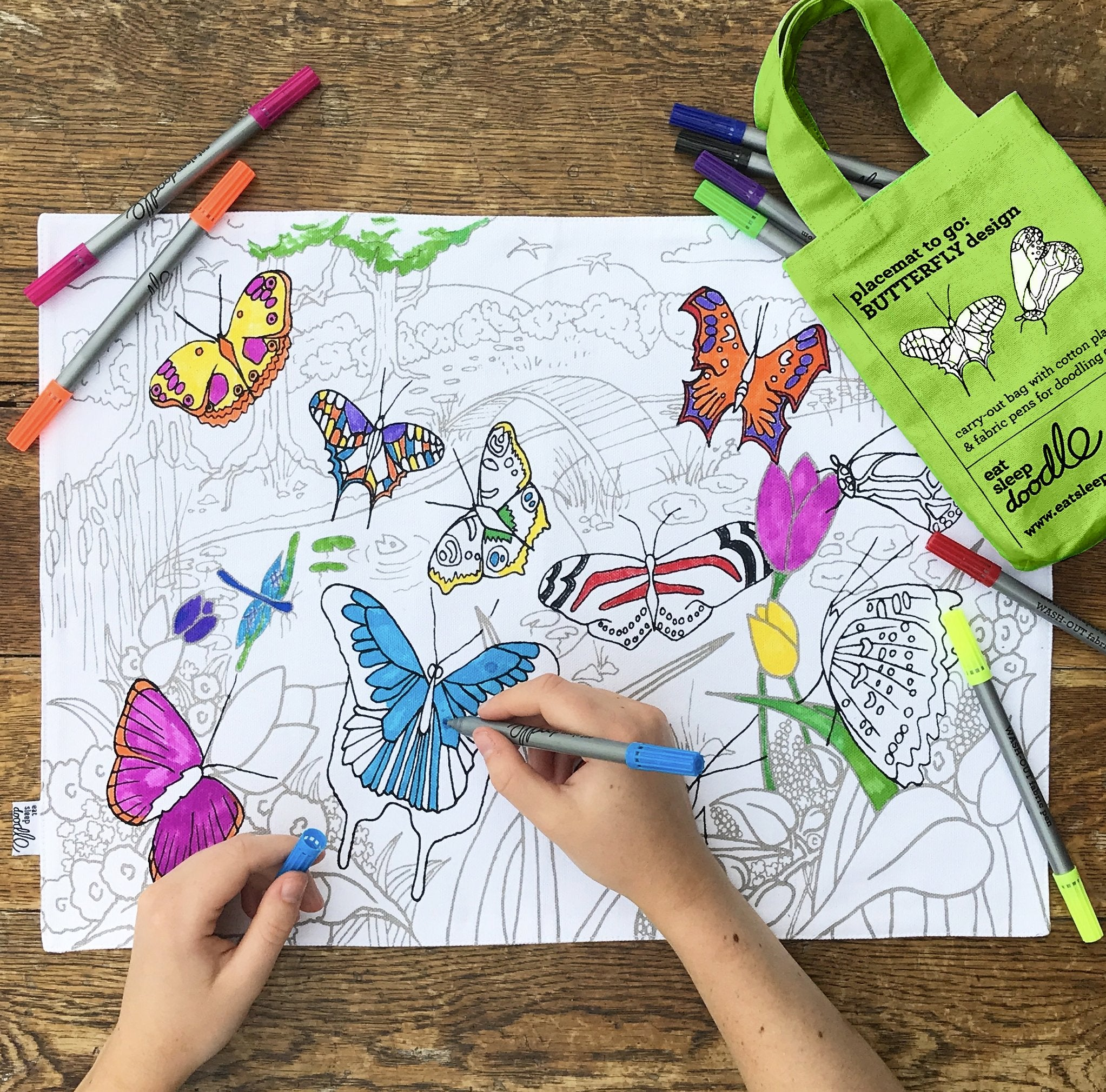 Butterfly Colour-in Placemat