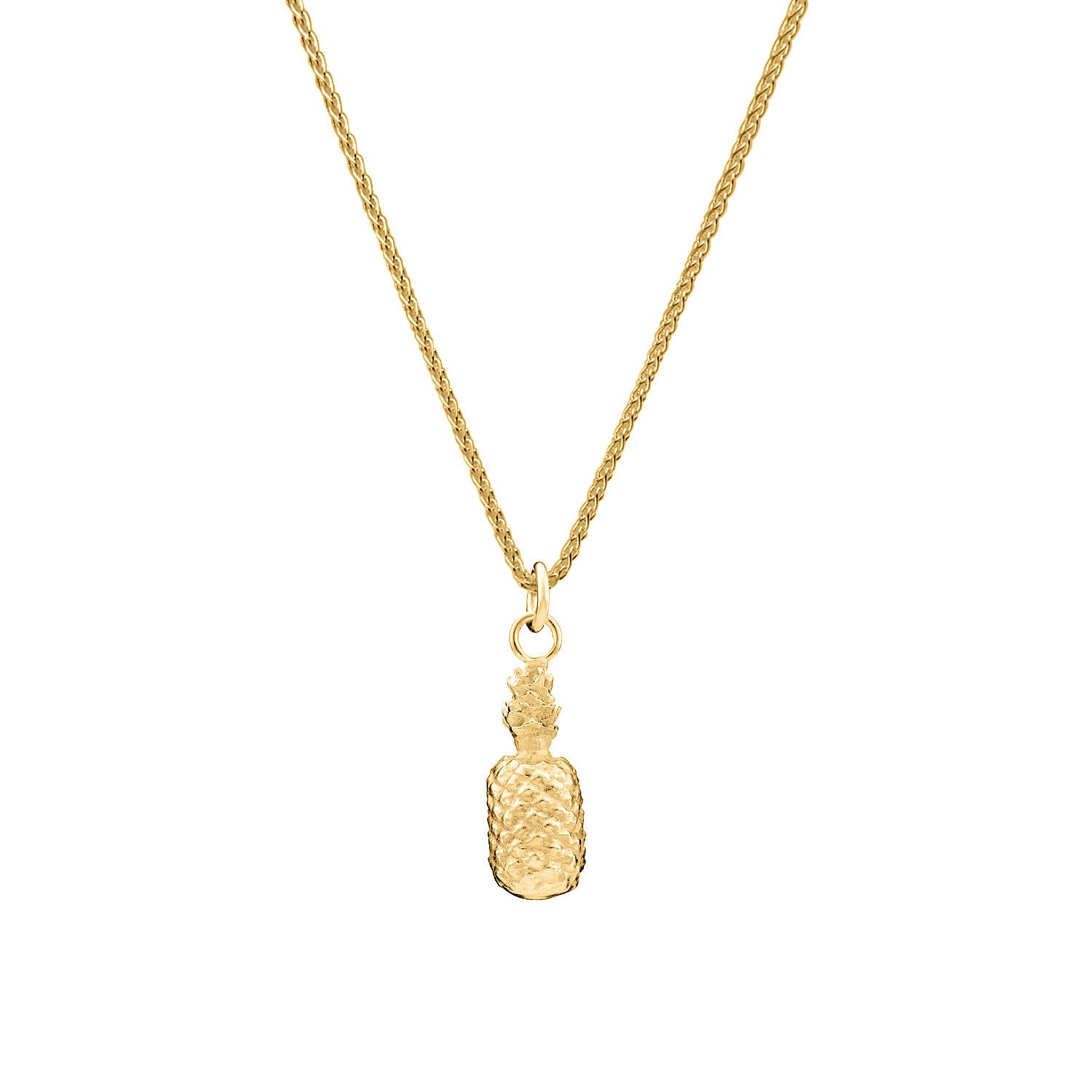 Gold Pineapple Charm Necklace