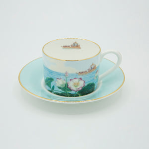 Indian Room Pale Blue Cup and Saucer