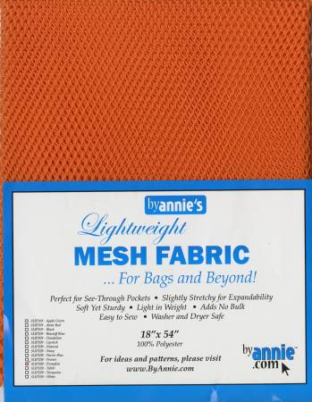 Mesh Fabric - Pumpkin