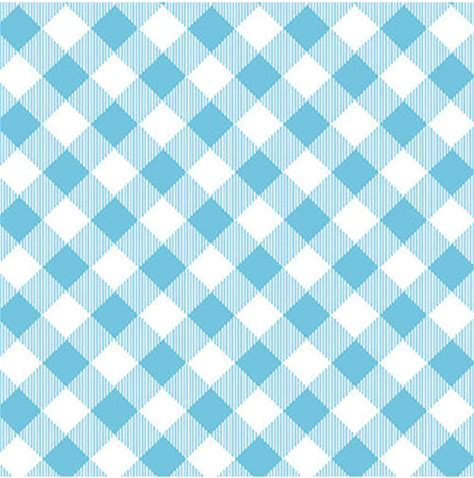 Bias Buffalo Plaid - Light Blue and White