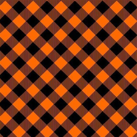 Bias Buffalo Plaid - Orange and Black