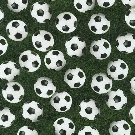Sports Life - Soccer Balls on a black background