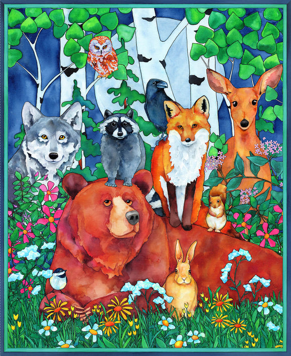 Woodland Fantasy - Animal Panel
