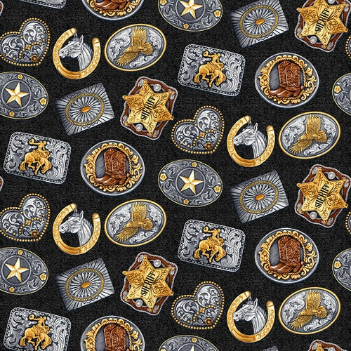 Wild Wild West - Rodeo Buckles on black