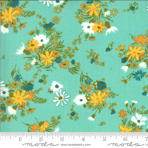 A Blooming Bunch - Aqua Florals