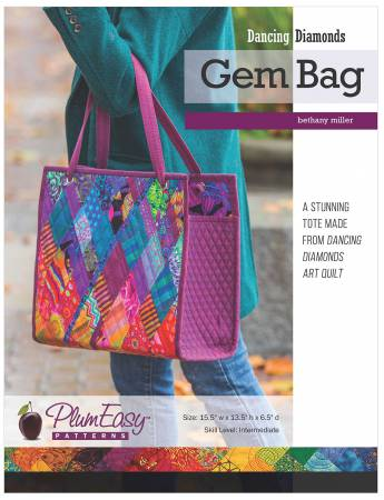 Dancing Diamonds Gem Tote, Class I - Tuesday, April 13th & Class II, Friday, April 16th:  1:00pm - 4:00pm
