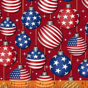 Christmas USA - Red & Blue Ornaments