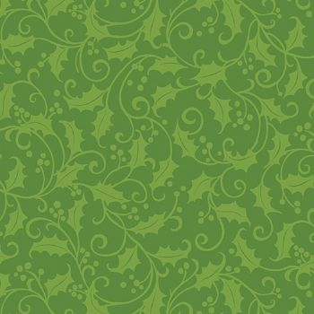 Holly Green Tea Towel