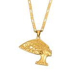 Collier buste néfertiti