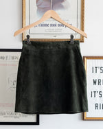 Load image into Gallery viewer, Suede Mini Skirt