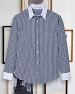 Load image into Gallery viewer, Classic Navy Stripe Shirt
