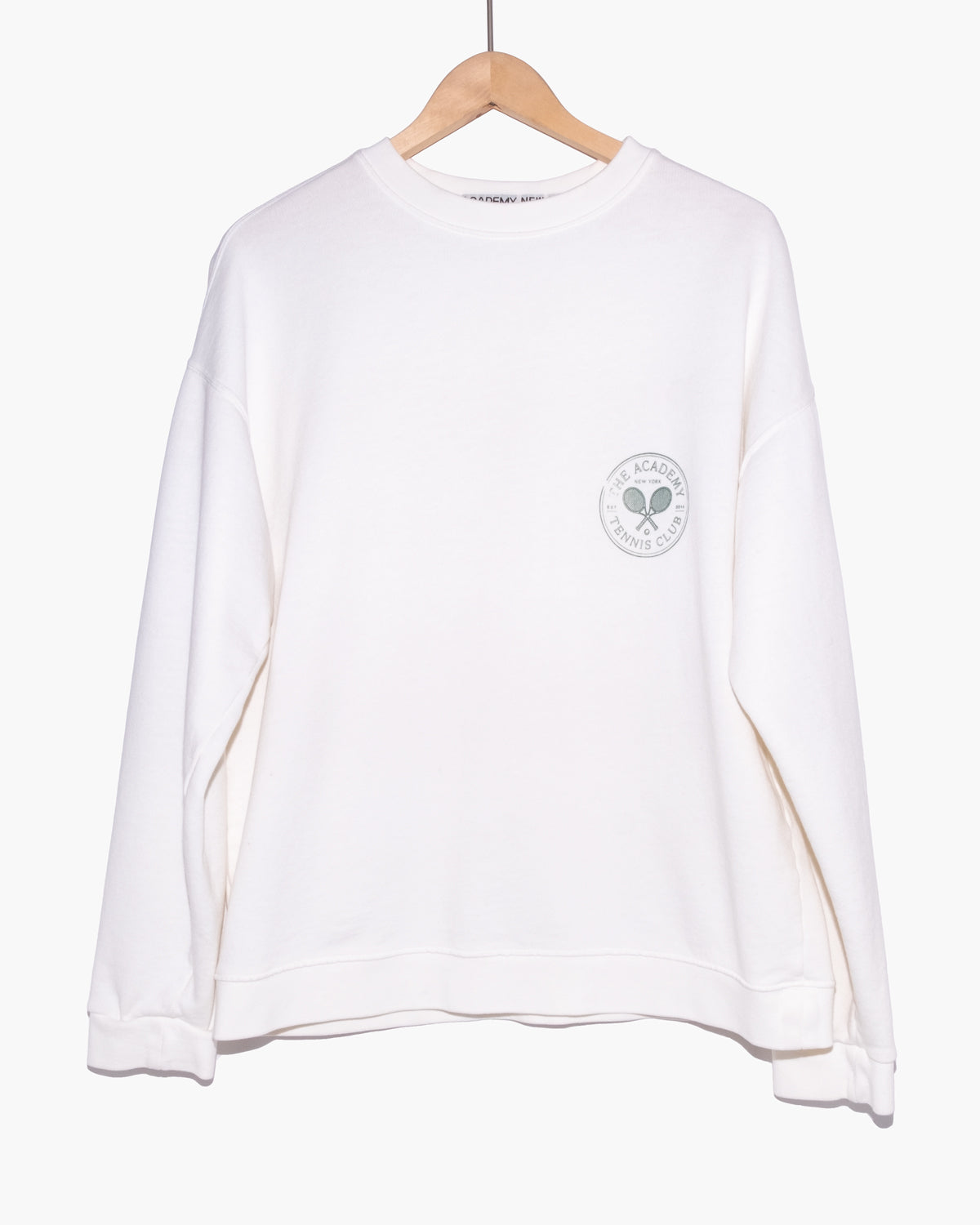 Tennis Club Logo Crew Neck Sweatshirt