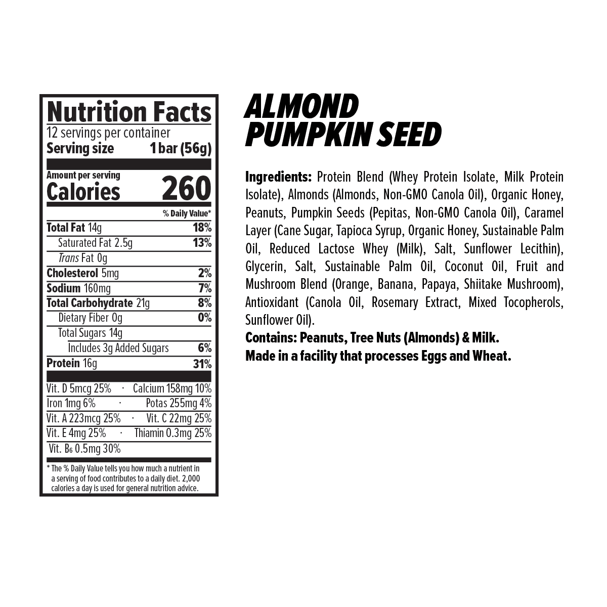 Almond Pumpkin Nut and Seed Nutrition Facts