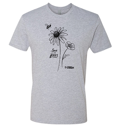 Save The Bees Tee - Gray