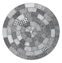 Load image into Gallery viewer, Manhole Covers. Grayscale vectorised image. Giclée Print.