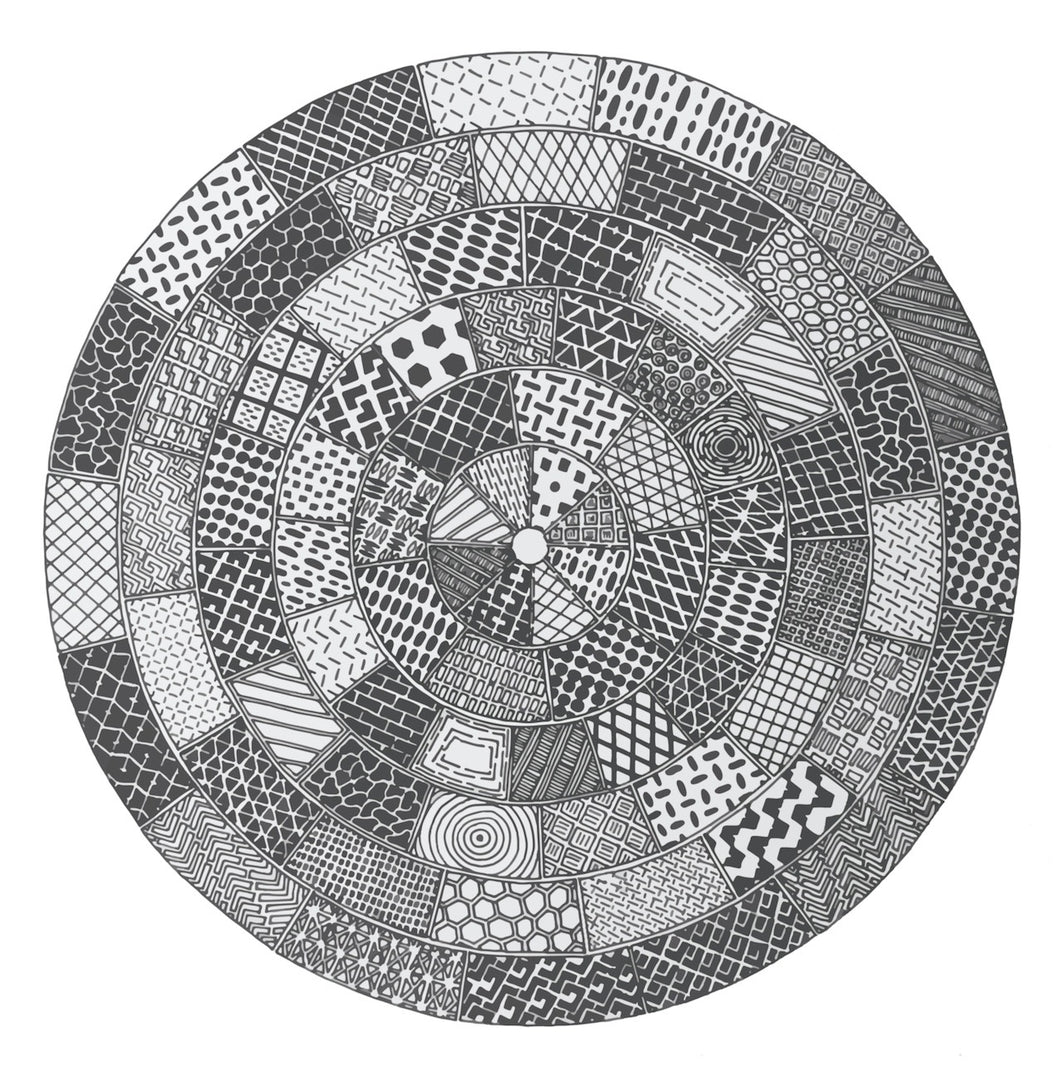 Manhole Covers. Grayscale vectorised image. Giclée Print.
