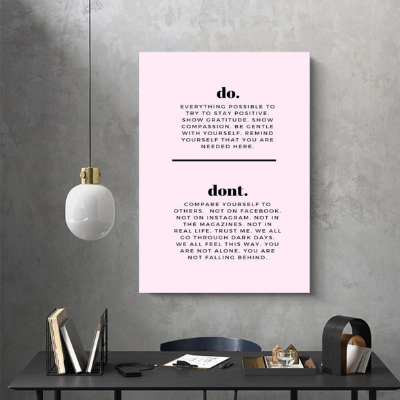 Stay Positive Metal Print