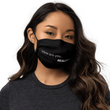 """How are you... Really?"" Black Premium face mask - b-ok"