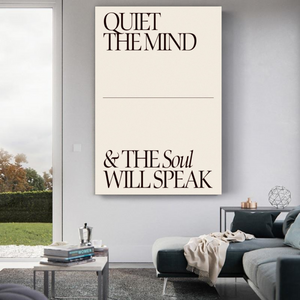 Quiet The Mind Metal Print