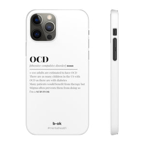 OCD Awareness White iPhone Snap Cases