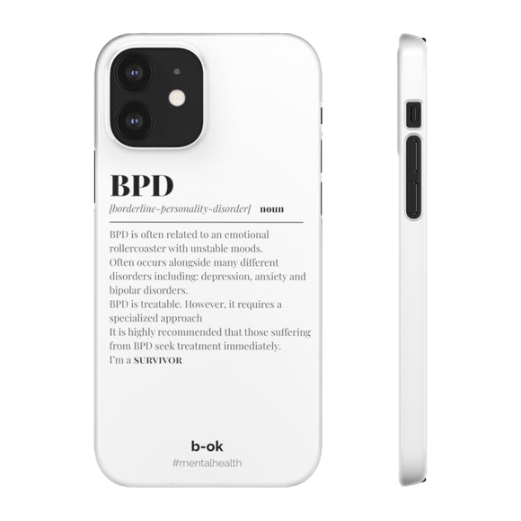 BPD Awareness White iPhone Snap Case