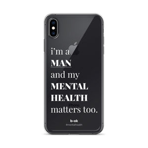 Male Mental Health Awareness (White) - iPhone Case