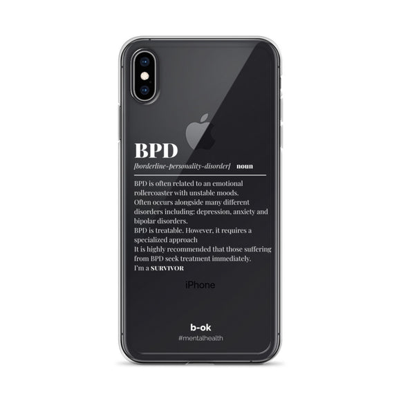 BPD Awareness (White) - Transparent iPhone Case