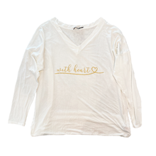"Load image into Gallery viewer, With Heart ""Slouchy"" Women's Shirt"