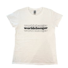 Load image into Gallery viewer, Worldchanger Women's T-shirt (black)