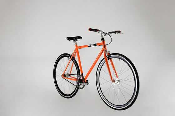 Soho Orange Single Speed Bike Northcote Road