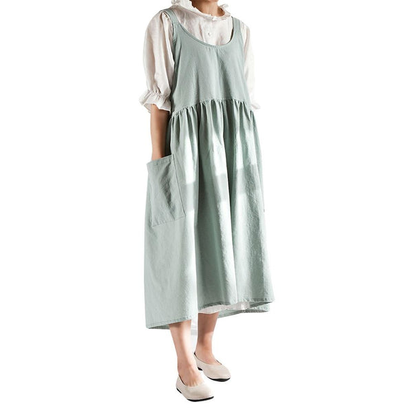 One Fyfe Cotton and Linen Midi Apron