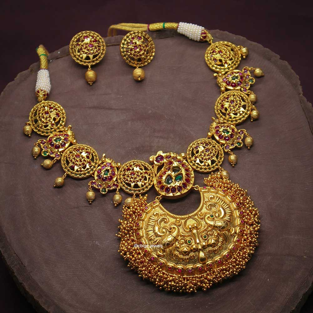Antique Necklace with Semi-Precious Stones