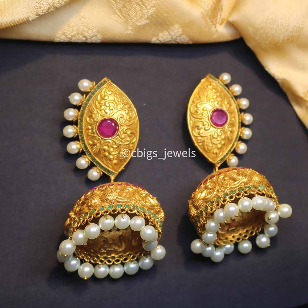 Antique Jumak with Ruby and Pearls