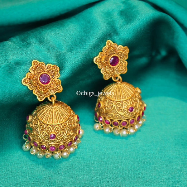 Temple Jumka Earrings