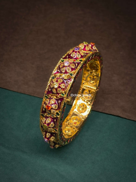 Handcrafted Minakari Polki Bangle