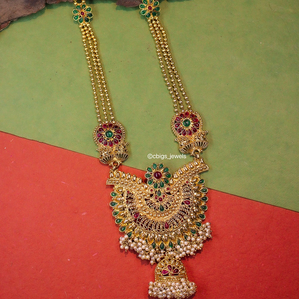 Antique Gold Haram with Pendant