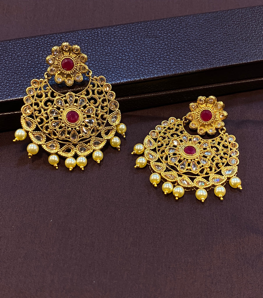 Polki Stone Earrings