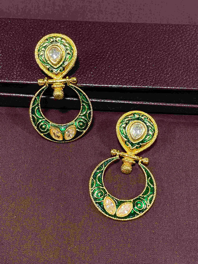 Kundan Minakari Earrings