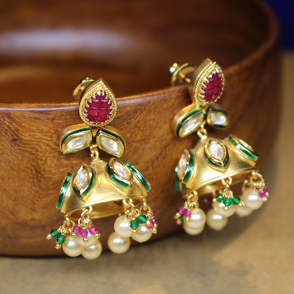 Minakari Kundan Earrings