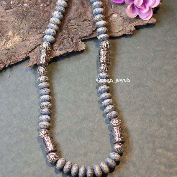 Precious Grey Agate necklace