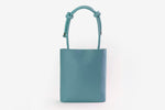 ZOEE 2 ways chunky knot leather bag - Dusty Blue